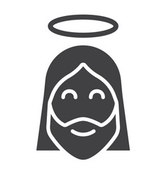 jesus glyph icon easter and holiday christ sign vector image