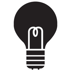 Lightbulb Icon vector image vector image