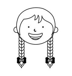 Little ethnic girl character vector
