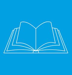 open book icon outline style vector image