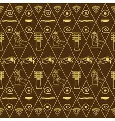 Pattern of egyptian hieroglyphics vector