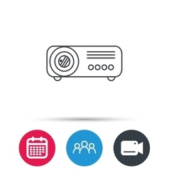 Projector icon video presentation device sign vector