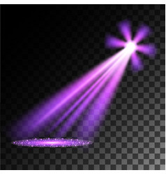 Purple spotlights vector