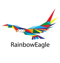 Rainbow Eagle Logo vector image