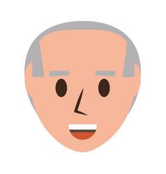 Retro old man cartoon vector