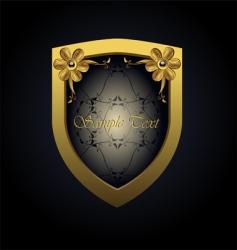 royal badge vector image