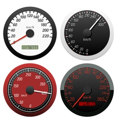 set of speedometer vector image vector image