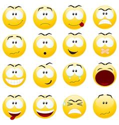 smiley faces vector image vector image