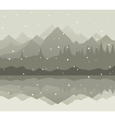 Snow landscape vector