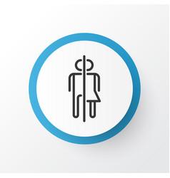 Wc icon symbol premium quality isolated restroom vector