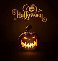 Jack o Lantern Dark Scary vector image