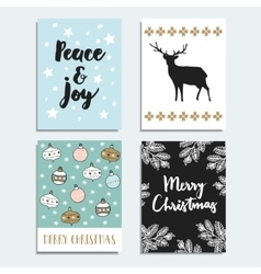 Set of christmas new year greeting journal cards vector
