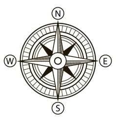 Compass or wind rose vector
