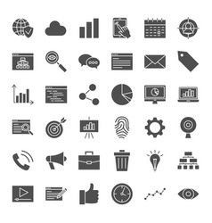 Development solid web icons vector