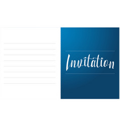 Invitation card design style collection vector