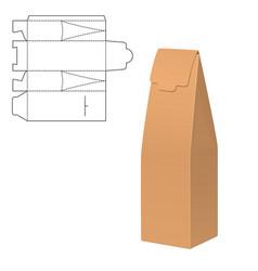 Mock up clear box vector