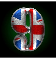 Great britain metal figure 9 vector
