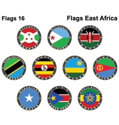 World flags east africa vector