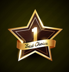 Number one best choice golden label design vector