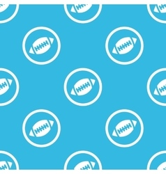 Rugby sign blue pattern vector