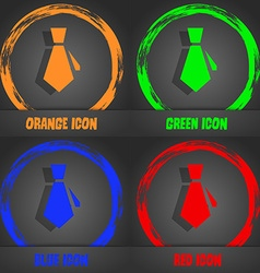 Tie icon fashionable modern style in the orange vector