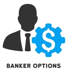 Banker options icon with caption vector