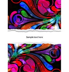 abstract background with colorful swirls vector image