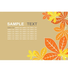 Colored autumn leaves background vector