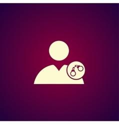 User icon handcuffs icon vector