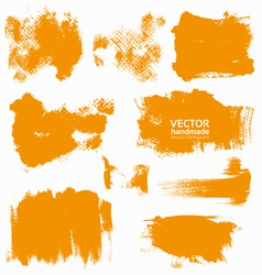 Abstract orange set backgrounds vector image vector image