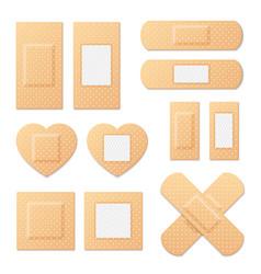 adhesive bandage elastic medical plasters vector image vector image
