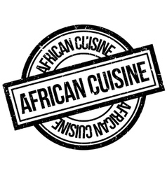 African cuisine rubber stamp vector
