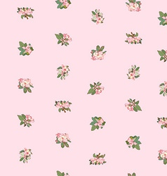 Apple flowers pattern vector
