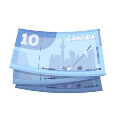 canadian dollar canada single icon in cartoon vector image vector image