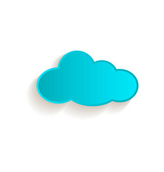 cartoon cloud icon symbol isolated vector image vector image