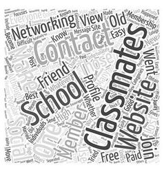 Classmates a popular social networking website vector
