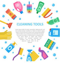 Cleaning tools icon set copyspace vector