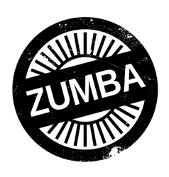 Famous dance style zumba stamp vector