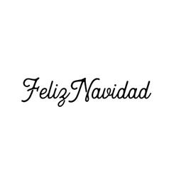 Feliz navidad words lettering vector