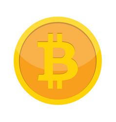 Flat modern design concept of bitcoin vector