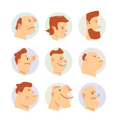 funny faces avatars comical vector image vector image