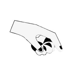 Hand with cotton vector