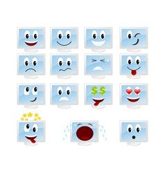 monitor cartoons vector image vector image