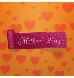 Mothers day realistic greeting curved ribbon vector