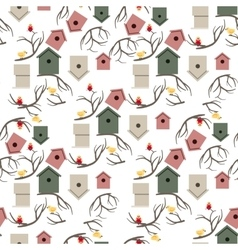 Nesting box seamless pattern vector image vector image