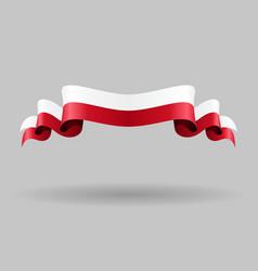 Polish wavy flag vector