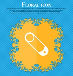 Pushpin icon sign floral flat design on a blue vector