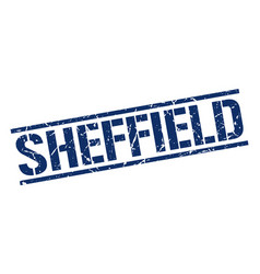Sheffield blue square stamp vector