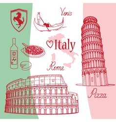 Symbols of Italy vector image