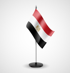 Table flag of egypt vector